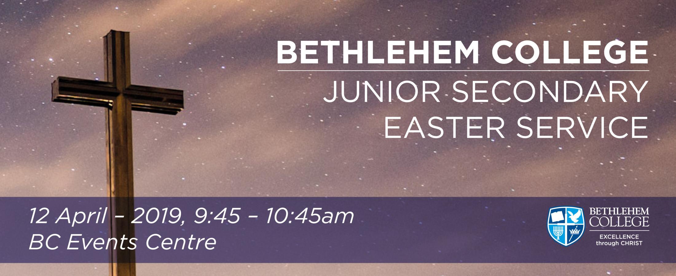Junior Secondary Easter Service